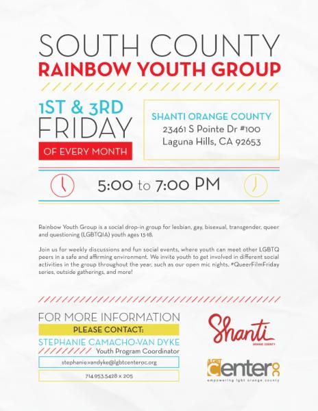 South County Rainbow Youth Group @ Shanti Orange County | Laguna Hills | California | United States