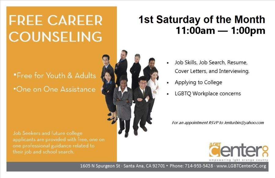 Career Counseling and Job Coaching @ LGBT Center OC | Santa Ana | California | United States