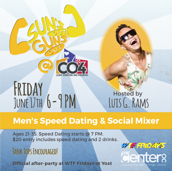 Speed Dating for Gay Men Ages 21-35