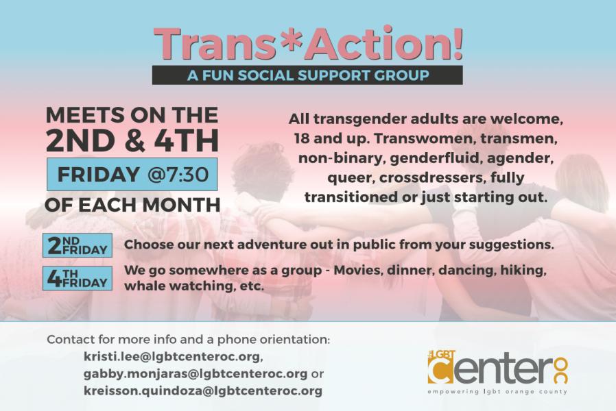 Trans* Action @ LGBT Center OC | Santa Ana | California | United States