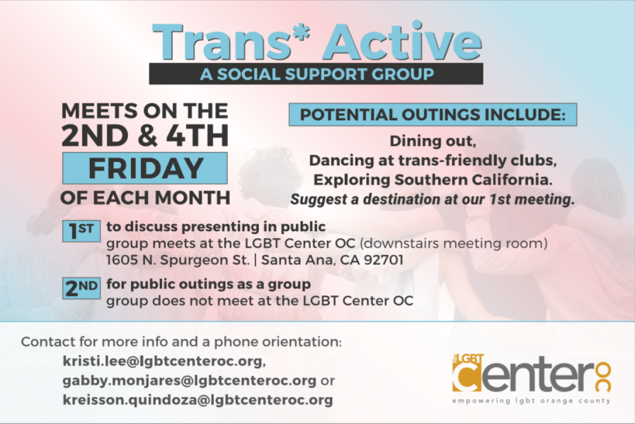 Trans* Active @ LGBT Center OC | Santa Ana | California | United States