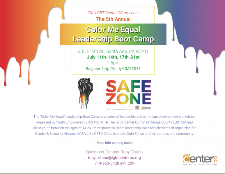 Color Me Equal Leadership Boot Camp @ LGBT Center on 4th | Santa Ana | California | United States