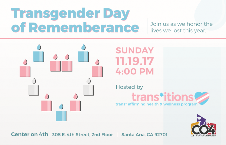 Transgender Day of Remembrance @ LGBT Center on 4th | Santa Ana | California | United States