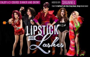 Lipstick and Lashes Dinner Show hosted by Shannel @ Velvet Lounge | Santa Ana | California | United States