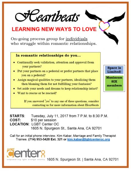 Heartbeats @ LGBT Center OC | Santa Ana | California | United States