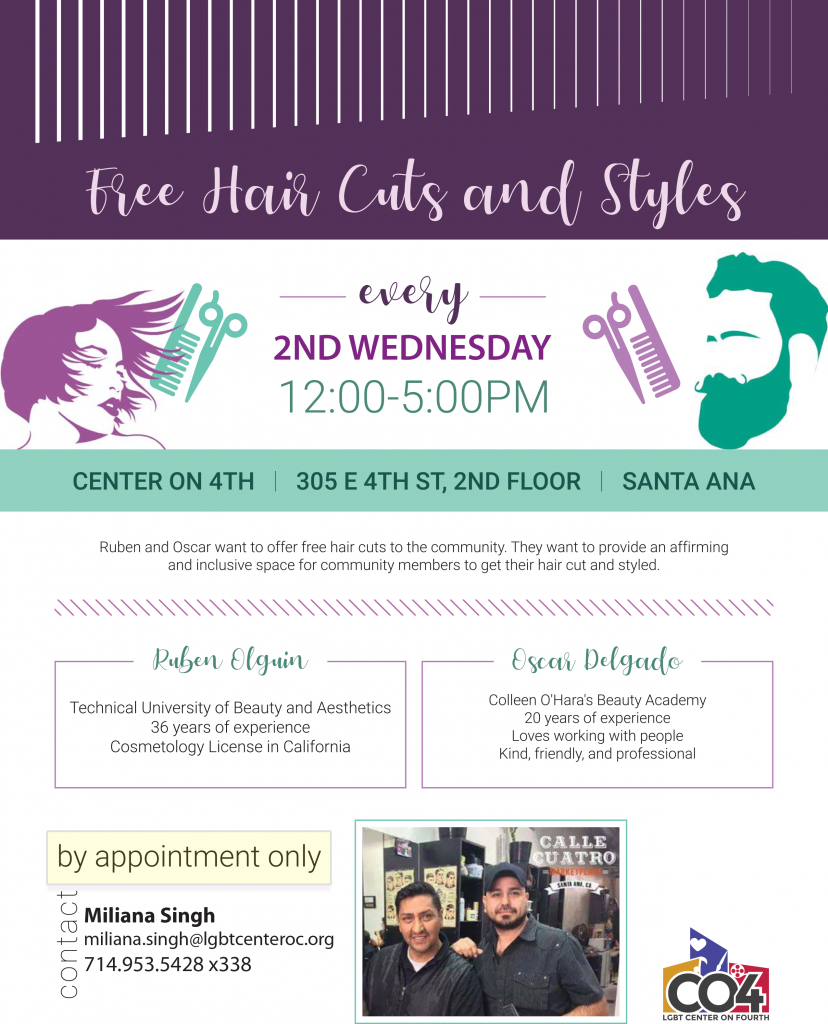 Free Haircuts And Styles Lgbt Center Oc