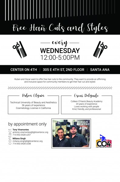 Free Haircuts and Styles! @ Center on 4th | Santa Ana | California | United States
