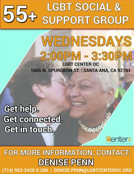 55+ LGBTQ SOCIAL & SUPPORT GROUP @ LGBT Center OC | Santa Ana | California | United States