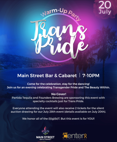 Trans Pride Warm-Up Party @ Main Street Bar & Cabaret | Laguna Beach | California | United States